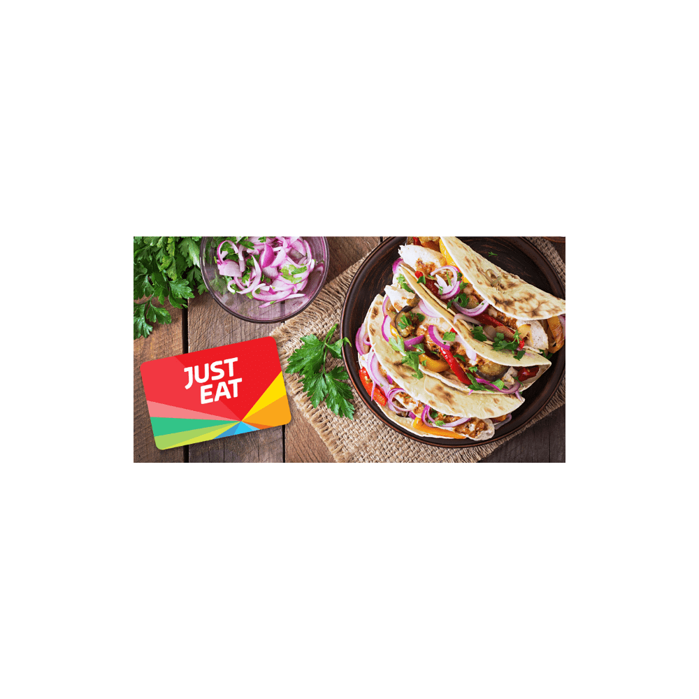 THE JUST EAT GIFT CARD WORTH £50